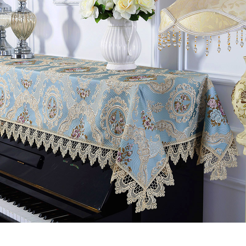 Proud Rose Lace Piano Cover Embroider European Cloth Cover Dustproof Piano Towel Cloth Universal Dustproof Half