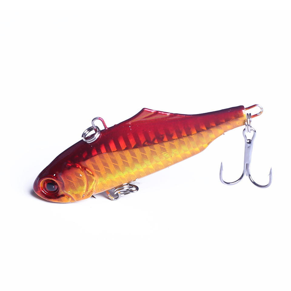 1Pcs 7.5cm 24g Winter VIB Fishing Lure Hard Bait With Lead Inside Ice Sea Fishing Tackle Diving Swivel Jig Wobbler