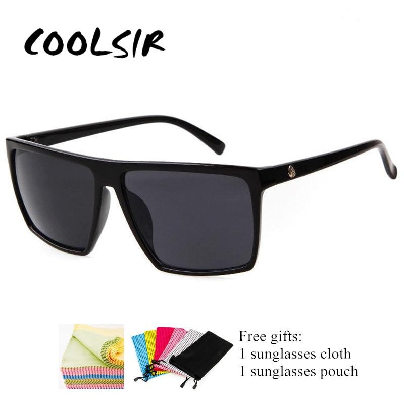 COOLSIR Square Sunglasses Men Brand Designer Mirror Photochromic Oversized Male Sun glasses for Man