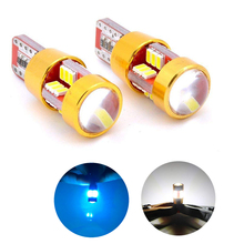 2pcs T10 LED Car Parking Light W5W-27 Interior Signal Lamp  White BlueAuto Car Brake Turn Stop Rear Light Bulb Lamp DC12V Light патч корд 6 категории brand rex ac6pcg050 888hb lszh серый 5м