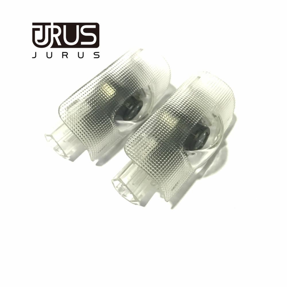 JURUS Hot sale a pair car door Welcome light 3D ghost shadow lamp auto door logo light For Toyota Prado logo free shipping