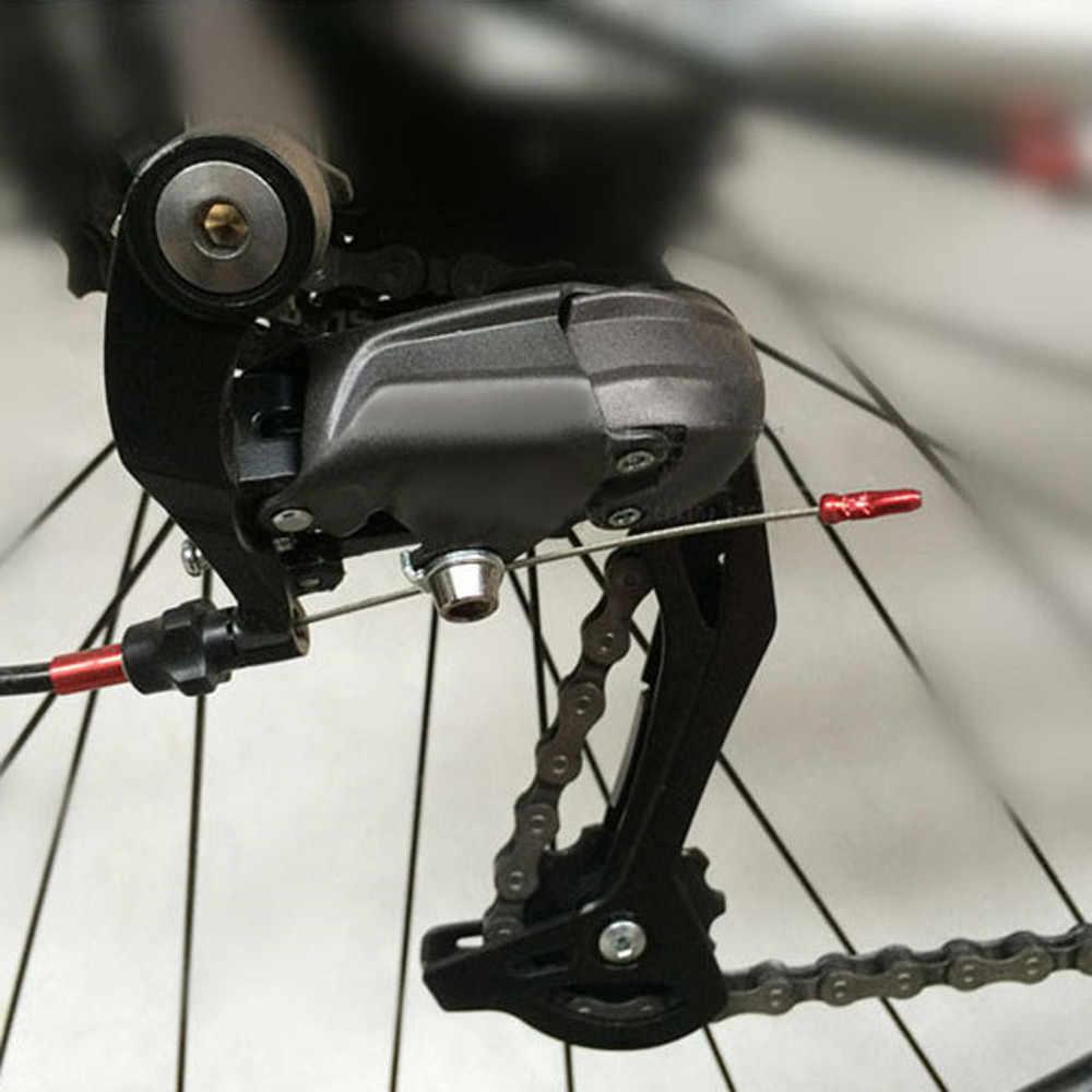 1 pc bicicleta mtb fio de freio final núcleo cabo tampa alumínio capa engrenagem bicicletas peças acessórios equipamentos ciclismo núcleo tampas