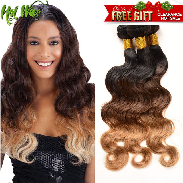 Grade 7A Ombre Brazilian Body Wave Human Hair 3 Bundles 1b 4 27 Brazilian Virgin Hair Body Wave Brazilian Remy Hair Extensions