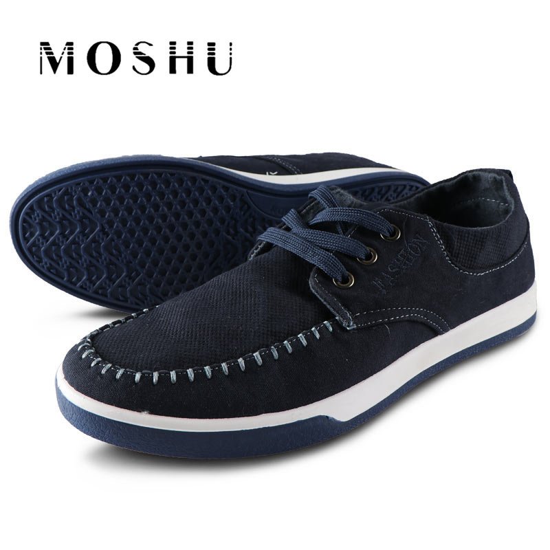 Summer Men Canvas Shoes Breathable Flats Casual Shoes Washed Denim Lightweight Sneakers Zapatillas Deportivas Hombre