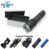 Tactical Function Flashlight LED professional lantern super bright waterproof rechargeable Cree xm l2 Torch 18650 Battery Hunt