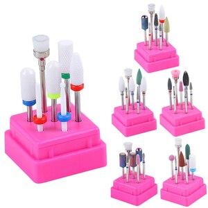 Image 1 - 7pcs Pro Ceramic Diamond Nail Drill Bits Set Milling Cutter Manicure Machine Electric Machine Accessory Nail Sander Bits Tool
