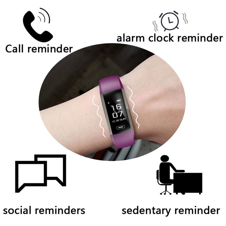 Image 3 - HORUG Smart Wristband Fitness Bracelet Life Waterproof Fitness Tracker Activity Bracelet Heart Rate Monitor Smartband-in Smart Wristbands from Consumer Electronics
