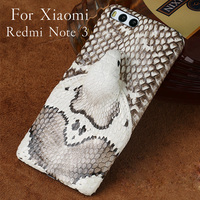 LANGSIDI Brand Phone Case Real Snake Head Back Cover Phone Shell For Xiaomi Redmi Note 3