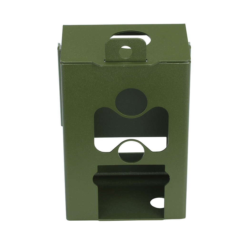 Army Green Stainless steel Iron Security Box for Suntek Hunting font b Trail b font font
