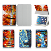 Landscape Oil Painting Case For IPad Air 1 2 Cover With Sleep Wake UP Stand Sleeve