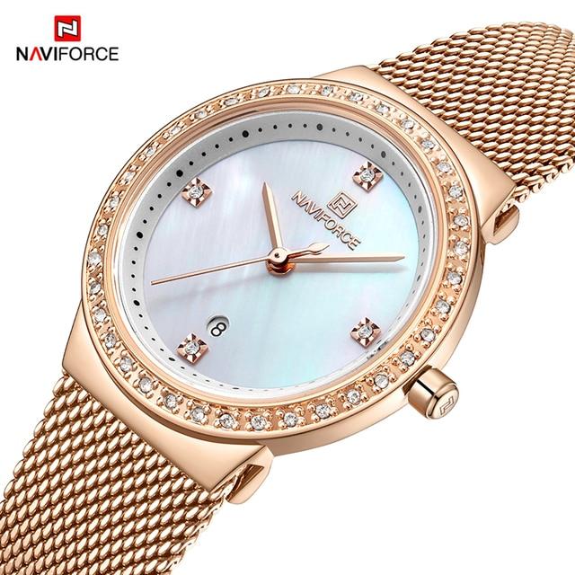 New NAVIFORCE Women Luxury Brand Watch Simple Quartz Lady Waterproof Wristwatch Female Fashion Casual Watches Clock reloj mujer