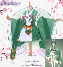 My Hero Academia Little Hero Izuku Midoriya deku Female Dress Cosplay Costume Japanese Kimono Anime Cosplay Uniforms Costumes little hero стучалка little hero с молоточком