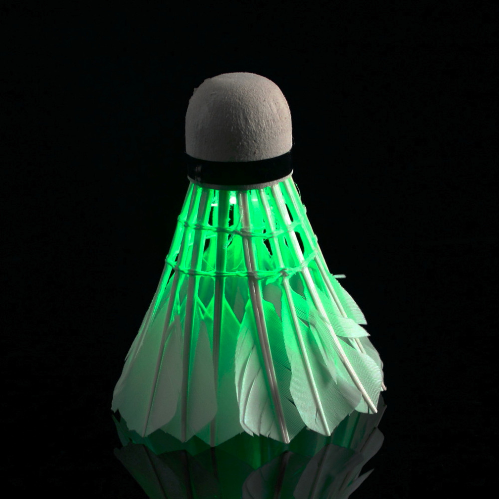 Dark Night LED Badminton Shuttlecock Birdies Lighting final clear out at the bottom price