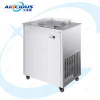 LJZ150 Free Standing Electric Fried Ice Cream Roll Machine Fried Yogurt Machine Thailand Fry IceCream Pan