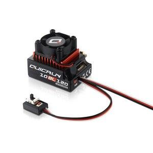 Image 2 - Hobbywing quicrun 10bl120 controlador de velocidade, sensor de 120a/10bl60, sem escova, esc, para mini carro 1/10 1/12 rc