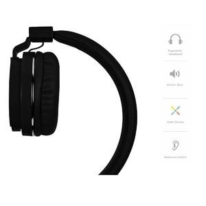Image 2 - Baixo pesado Fone De Ouvido Com Microfone Controle de Volume 3.5 MILÍMETROS Wired Headset Dobrável Música Fones De Ouvido Para iPhone Xiaomi PC Promoção