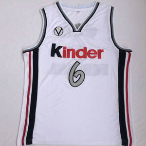 a8534f6796f Manu Ginobili jersey Virtus Kinder Bologna European Stitched Retro 6    Throwback