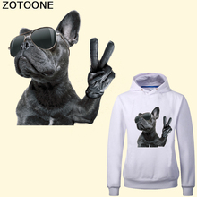 ZOTOONE Stickers on Clothes Dog Iron Patches for Clothing DIY Badges Heat Transfer Iron-On A-level Washable Appliques