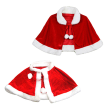 Women Girl Fashion Red Velvet Cape Cloak Christmas Shawl Cosplay Party Costumes Dress Decoration Santa Claus Costume 2018 Winter game anime king of glory diaochan red dress christmas cosplay costumes cloak skirts socks sleeve bowknot o