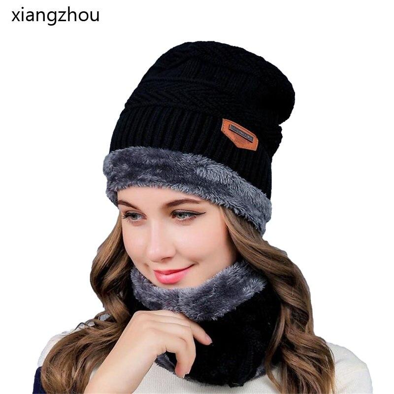 Xiangzhou 2017 Homens Quentes Chapéus Cachecol Tampão Do Inverno Chapéu de  Lã de Tricô para Homens 0cbf4c7b2fe