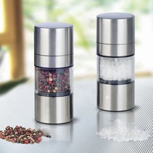 High Quality Stainless Steel Manual Salt Pepper Mill Grinder Portable Kitchen Muller Tool