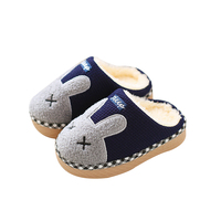 Animal Flannel Kids Slippers Winter Warm Plush Baby Home Slippers Boys Girls Toddler Shoes Child Flip