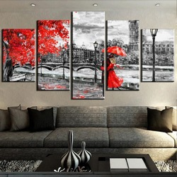5 Panel Canvas Art London Clock Tower Love way Cuadros Decoracion Paintings on Canvas Wall Art for Home Decorations Wall Decor