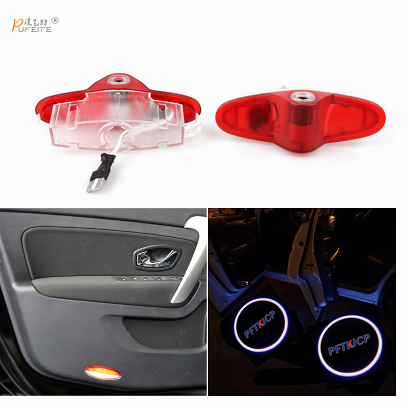Car LED Emblem Welcome Light Step Ground Projecting Lamp For Renualt Koleos for Megane Laguna Sandero Clio Latitude lamp eosuns led welcome lamp ground light for ford cft8000 cl9000 clt9000 club wagon contour cougar country squire courier