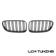 For BMW 3 Series E92 Coupe LCI 2010-2013 Double Slats Gloss black/Matt black/Triple Color+Chrome Front Grille