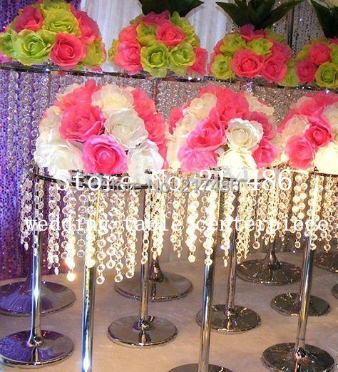 Cheapest And Beautiful ,Crystal Table Top Chandelier Centerpieces For  Weddings Table Wholesale In Glow Party Supplies From Home U0026 Garden On  Aliexpress.com ...