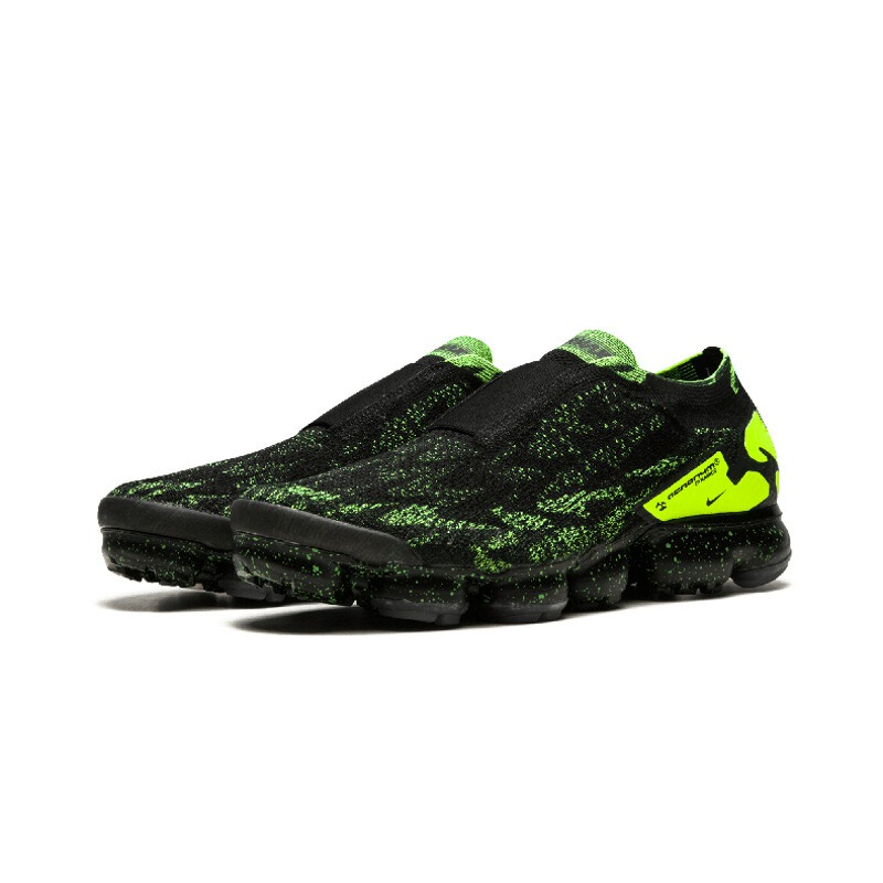 5b2fef4a7552 Original Bright Green Lace NIKE Acronym X Air VaporMax Moc 2 Men s Running  Shoes 2018 New Arrival Sneakers for Men AQ0996-in Running Shoes from Sports  ...