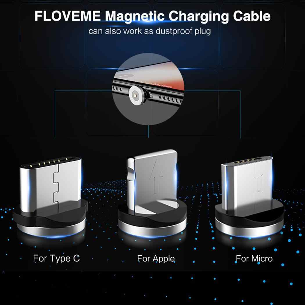 360 Degree Rotate Round Plug Braided Cable Magnetic Charging Home, Office, Car, Travel, etc Cable 2A Charger