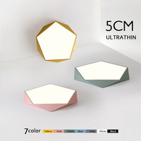 5cm Ultra Thin Color Geometry Ceiling Lamp High Brightness Ceiling Lamp Lixtures for Children's room Lighting Kitchen Study Ceiling Lights