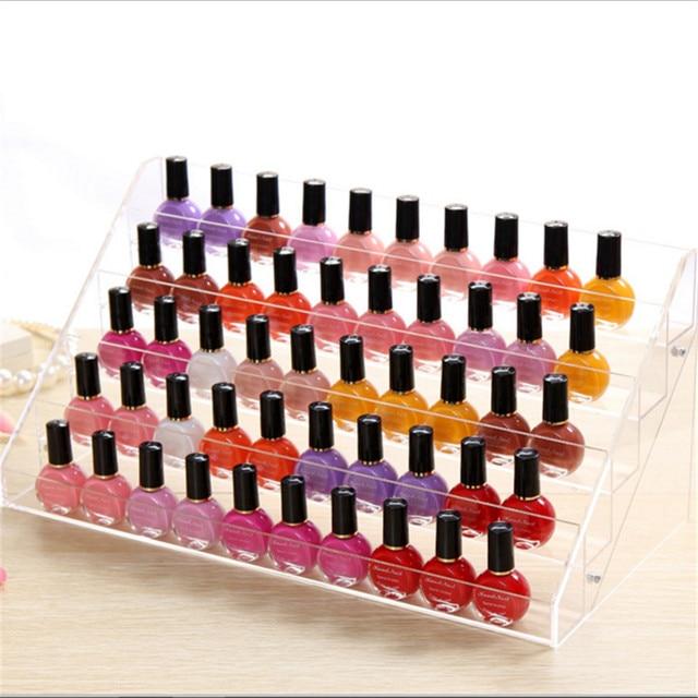 Beauty Makeup Nail Polish Storage Acrylic Makeup Organizer Rack ...