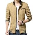 Мужские Куртки И Пальто Мужчины Хлопок Повседневная Куртка Твердые Тонкий Пальто Куртки Мужчины Jaqueta Masculina Плюс Размер 4XL Весте Homme