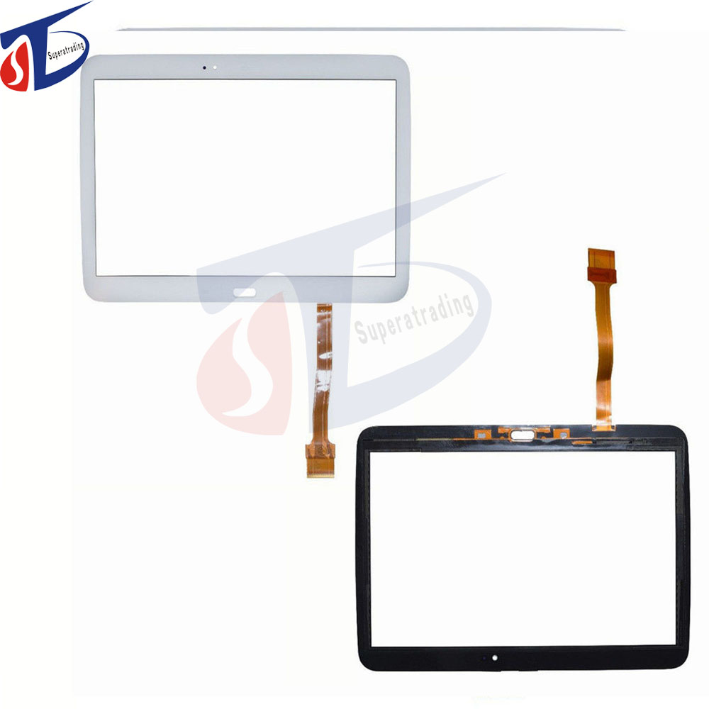 все цены на brand new For Samsung Galaxy Tab 3 P5210 GT-P5200 P5200 Touch Screen Digitizer Panel Glass Sensor Black White