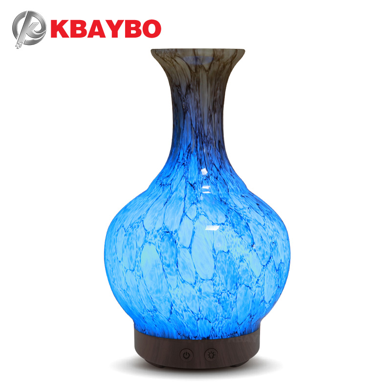 KBAYBO 100ml Air Humidifier Aroma Essential Oil diffuser with 7 colors LED light Ceramic vase Aromatherapy cool mist for home vase shape aromatherapy aroma essential oil diffuser 7 color changing air humidifiers cool mist humidifier for home office yoga