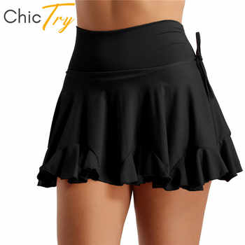 ChicTry Women Black/Red High Waist Latin Dance Skirt Stage Dance Costume Adult Tango Salsa Rumba Latin Dance Shorts Culottes - DISCOUNT ITEM  31% OFF All Category