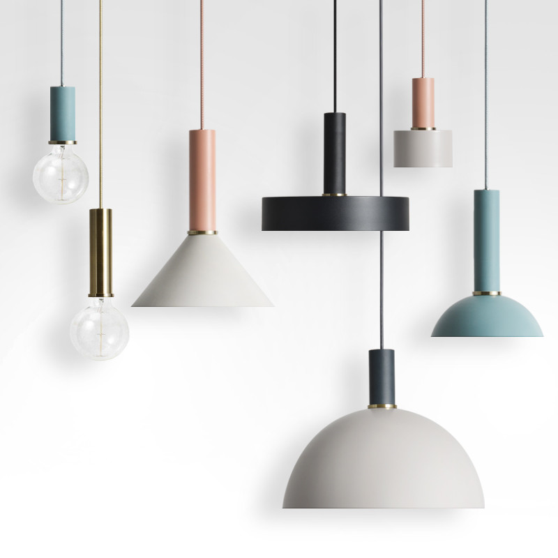 Simple Modern Metal Macarons Pendant Light clothing store restaurant bar coffee table bedroom hanging Pendant lamp lighting modern iron 3heads yellow gray blue pendant light study macarons restaurant bar inline chandel lighting pendant lamps za925435