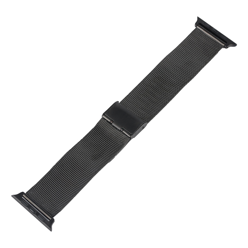 Fashion 38mm 42mm Replacement Stainless Steel Mesh Watch Band Strap for Apple Watch iWatch Black/Silver HQ Milanese Loop