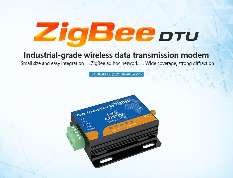 E800-DTU(Z2530-485-27) Zigbee CC2530 RS485 Transceiver (1)