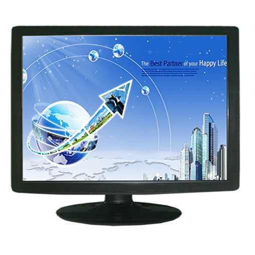 17 inch desktop touch monitor 4-wire resistive lcd touch screen monitor with VGA DVI for interactive display