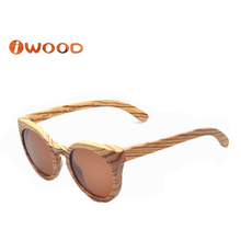 (WA45) 2016 New Fashion Style Zebra Wood Black Walnut Wood Sunglasses Women Sunglasses men sunglasses