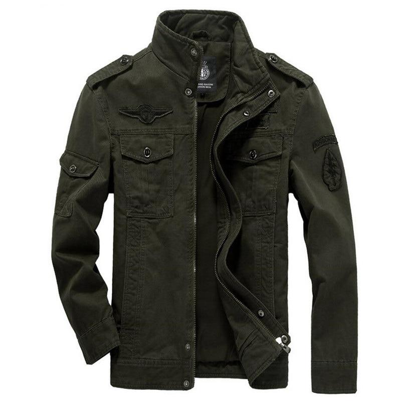 Cargo Jacket Windbreaker Tactical Outwear Coats Flight Embroidery Military Army Men's
