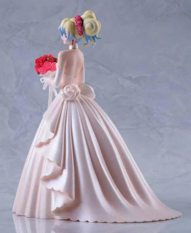 23cm Action Figure Gurren Lagann Nia Teppelin Princess Wedding Dress Doll With Bouquet Anime Figure   PVC figure Toy Brinquedos action figure pokemon