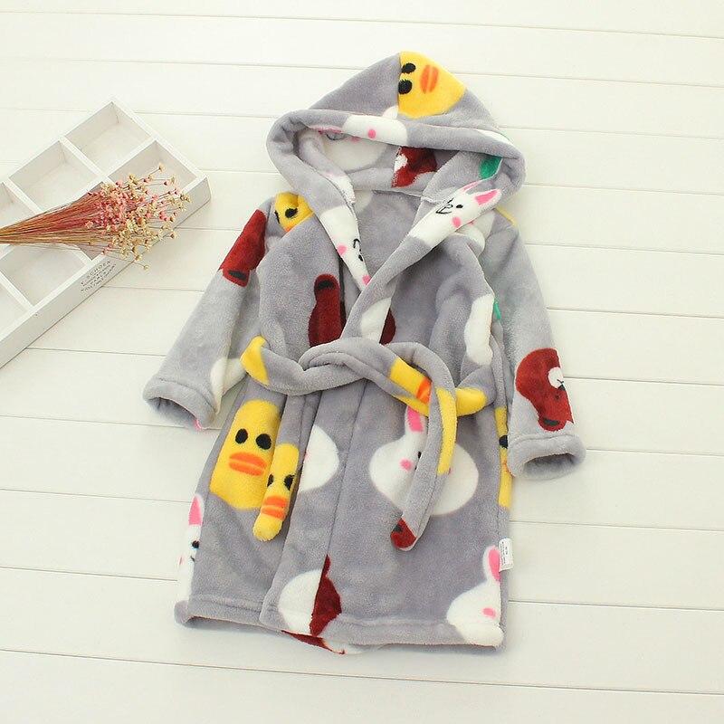 91beb0fe23 Kids Bathrobe Winter Sleepwear Girl Nightwear Children Flannel ...