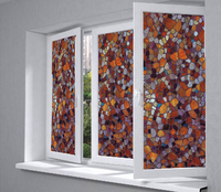 Eco Friendly No Glue Static Cling Glass Privacy Window Film Home Decor Living Room Stained Glass