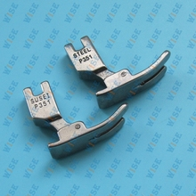 Industrial Sewing Machine Hinged Regular Presser Foot with Extended Heel P351 52427 2PCS