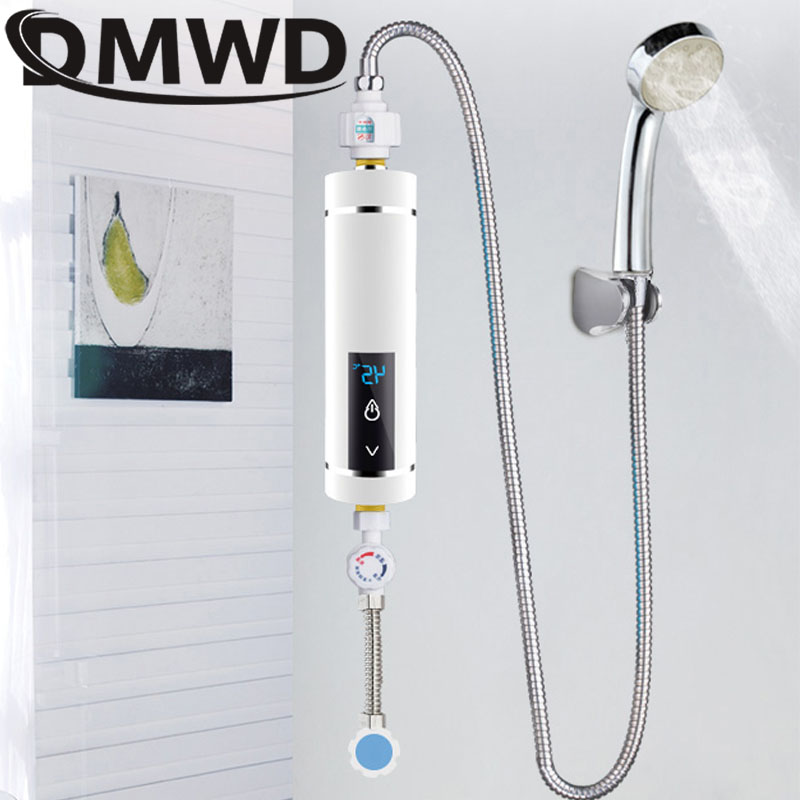 DMWD 5500W Electric Water Faucet Heater Instantaneous Tankless Watering Shower Mini Kitchen Bathroom Hot Water Heating Machine