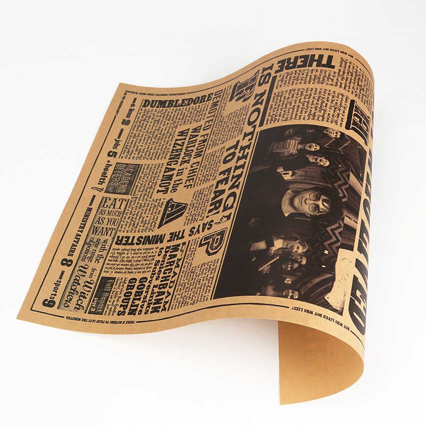 ÁO LER Cổ Điển Bộ Phim Giấy Kraft Poster Nhật Báo Tiên Tri Decal Dán Tường Thanh Cafe Tranh Trang Trí 42X27cm